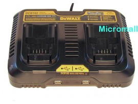 Dewalt charger DCB102 XR 10.8 -18v max 20v Dual Port With USB port